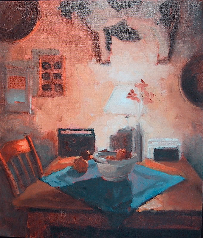 Tana's Kitchen Table / 14 x 12