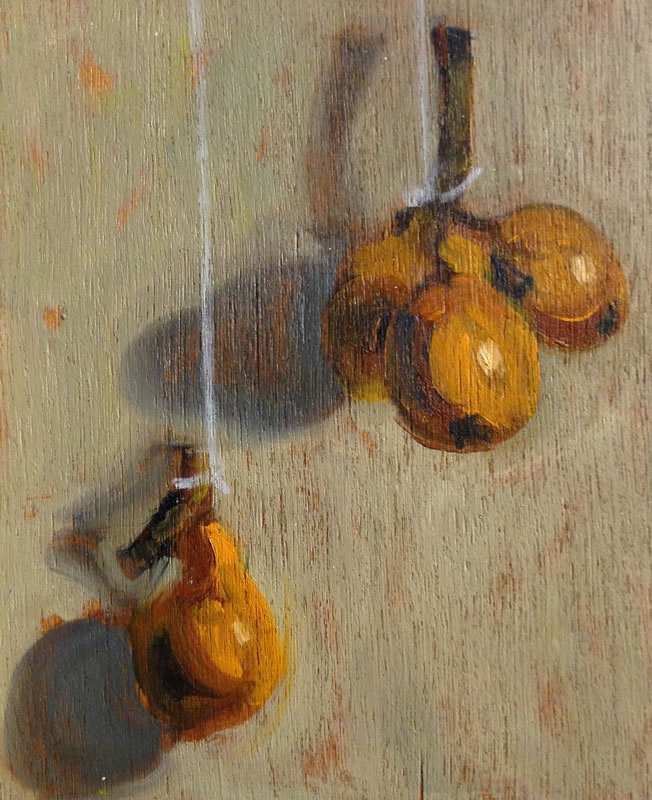 Hanging Loquats / 7 x 8 1/2