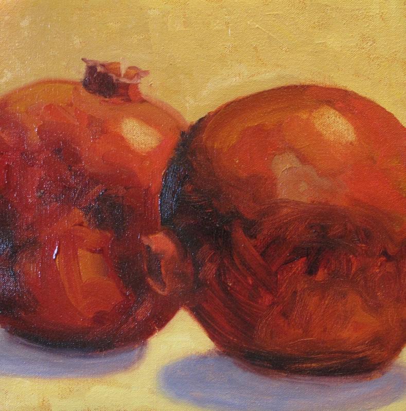 Two Pomegranates / 10 x 10